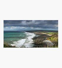 Panorama of Widemouth Bay Photographic Print
