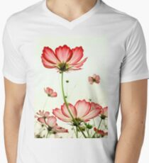 TENDER RED BLOSSOMS v2 Men's V-Neck T-Shirt