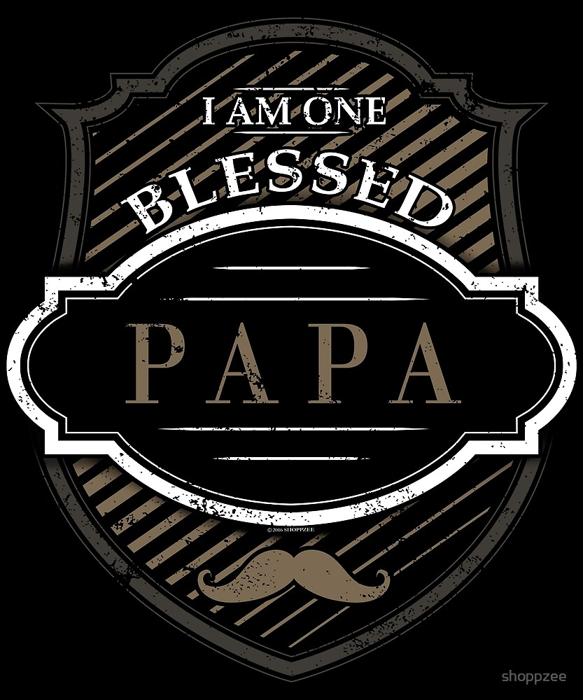 One Blessed Papa Shirt Grandpa Gifts by shoppzee
