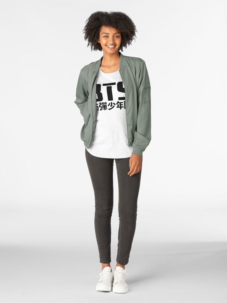 Alternative Ansicht von BTS Bangtan Boys Logo / Text Premium Rundhals-Shirt