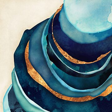 Abstract Blue with Gold by spacefrogdesign