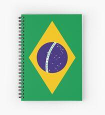 Brazilian Flag Spiral Notebook