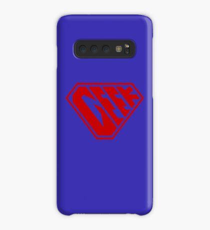 Geek SuperEmpowered (Red) Case/Skin for Samsung Galaxy