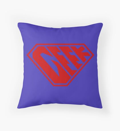 Geek SuperEmpowered (Red) Throw Pillow