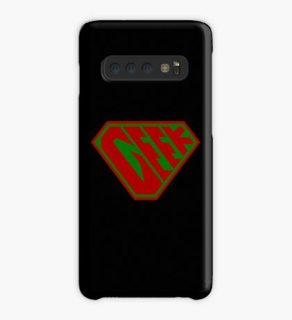 Geek SuperEmpowered (Red and Green) Case/Skin for Samsung Galaxy