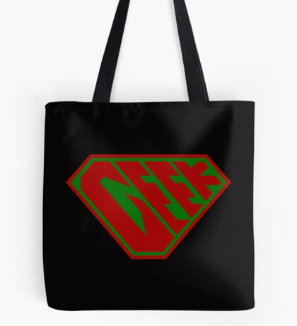 Geek SuperEmpowered (Red and Green) Tote Bag