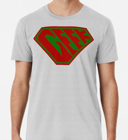 Geek SuperEmpowered (Red and Green) Premium T-Shirt