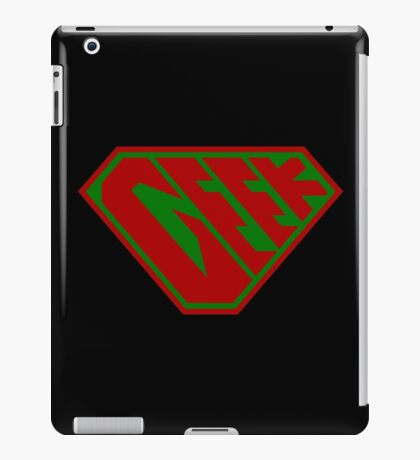 Geek SuperEmpowered (Red and Green) iPad Case/Skin