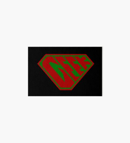 Geek SuperEmpowered (Red and Green) Art Board Print