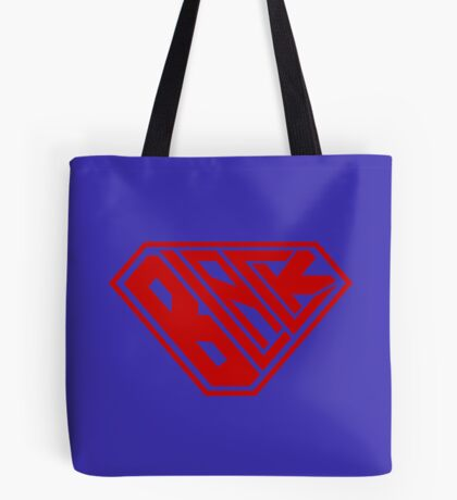 Black SuperEmpowered (Red) Tote Bag
