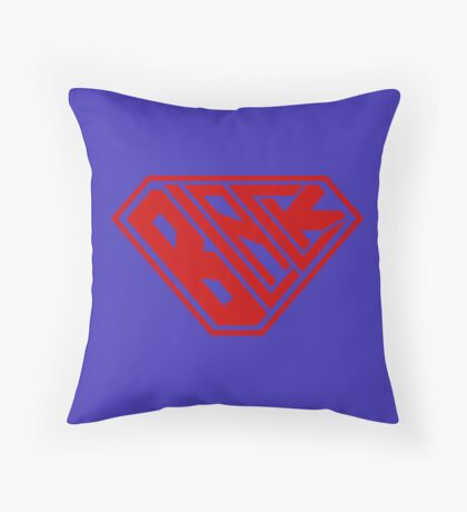 Black SuperEmpowered (Red) Throw Pillow