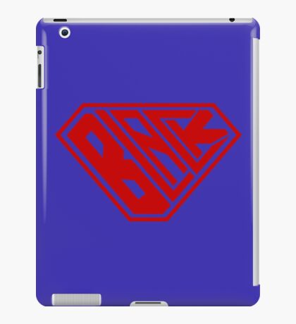 Black SuperEmpowered (Red) iPad Case/Skin