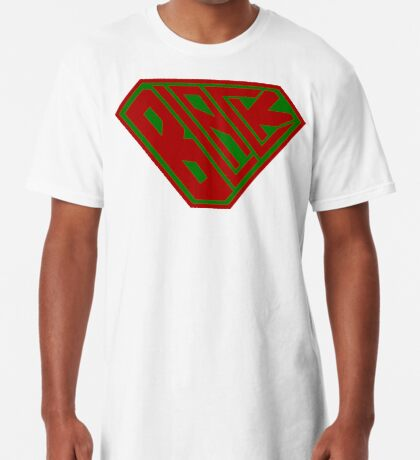 Black SuperEmpowered (Red and Green) Long T-Shirt