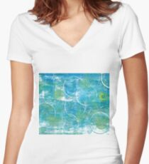 Mono Test - Scan Women's Fitted V-Neck T-Shirt
