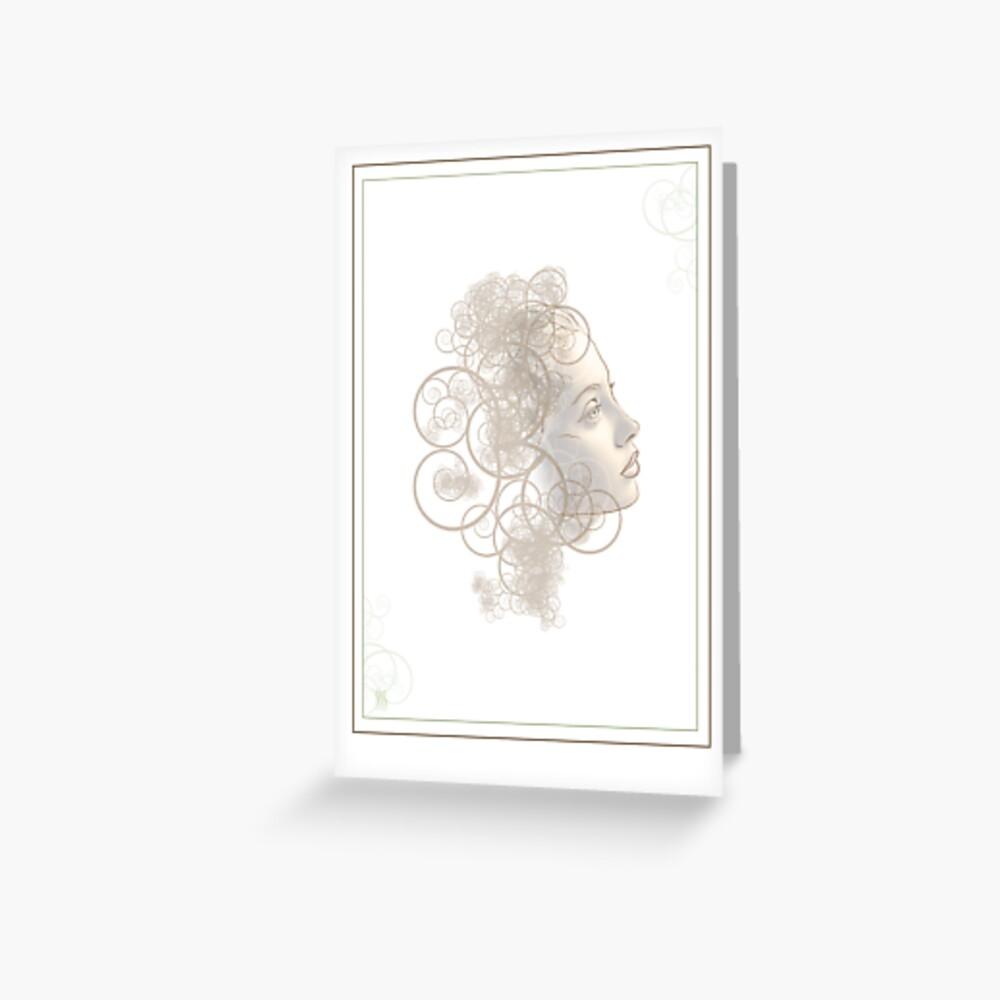 Flourish Face Greeting Card