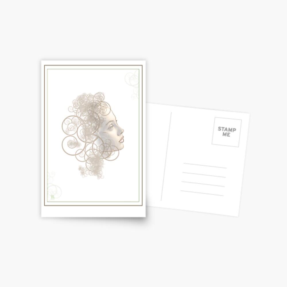 Flourish Face Postcard