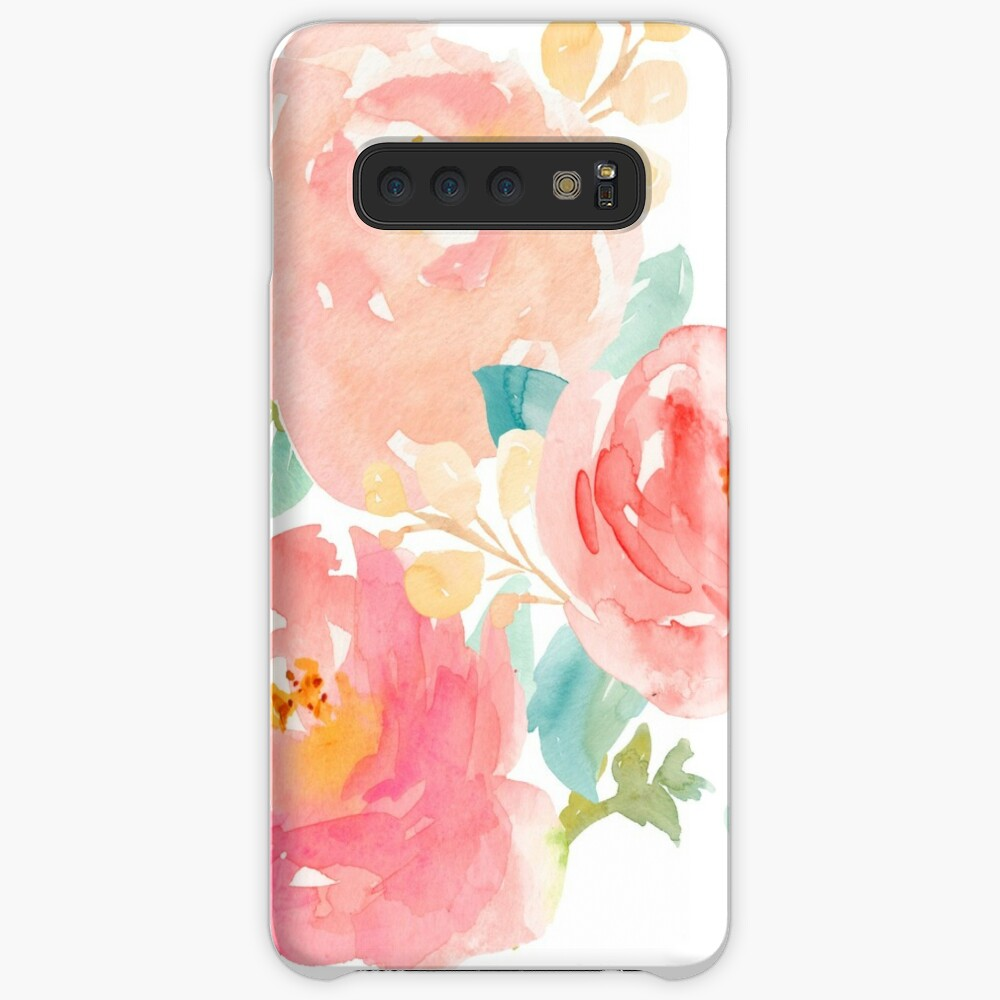 Peonies Watercolor Bouquet Case & Skin for Samsung Galaxy