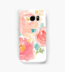 Peonies Watercolor Bouquet Samsung Galaxy Case/Skin