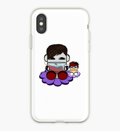 STPC: Flex & TaTa O'BOT Toy Robots (Wine and Bottle) iPhone Case