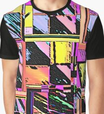 Abstract Color Squares Graphic T-Shirt