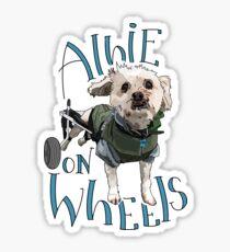 Albie on Wheels Sticker
