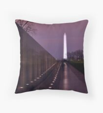 The Vietnam Memorial Throw Pillow