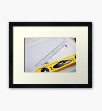 Tools of the architect. Framed Print