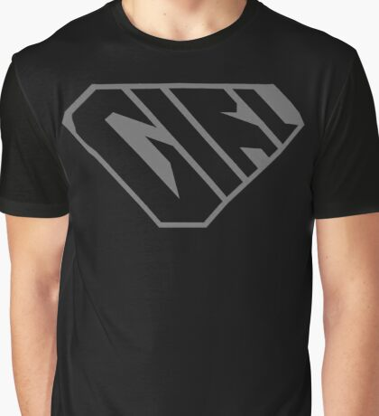 Girl SuperEmpowered (Black on Black) Graphic T-Shirt