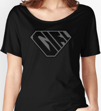 Girl SuperEmpowered (Black on Black) Relaxed Fit T-Shirt