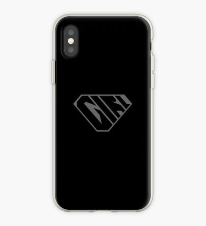 Girl SuperEmpowered (Black on Black) iPhone Case