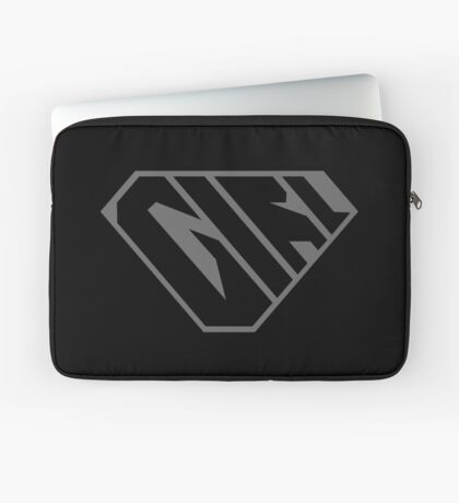 Girl SuperEmpowered (Black on Black) Laptop Sleeve