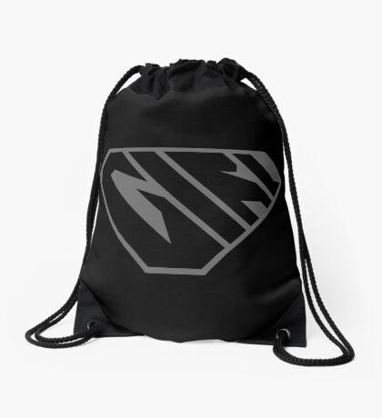 Girl SuperEmpowered (Black on Black) Drawstring Bag