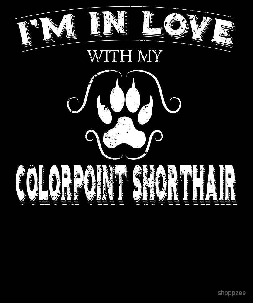 Anti Valentines Party Colorpoint Shorthair Cat by shoppzee