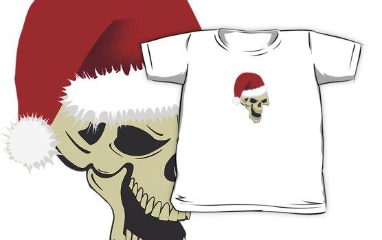 Gothic Christmas skull