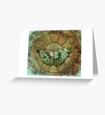Steampunk Butterfly Distressed Greeting Card