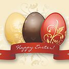 Easter Eggs Gold Decorated - Yellow by ruxique