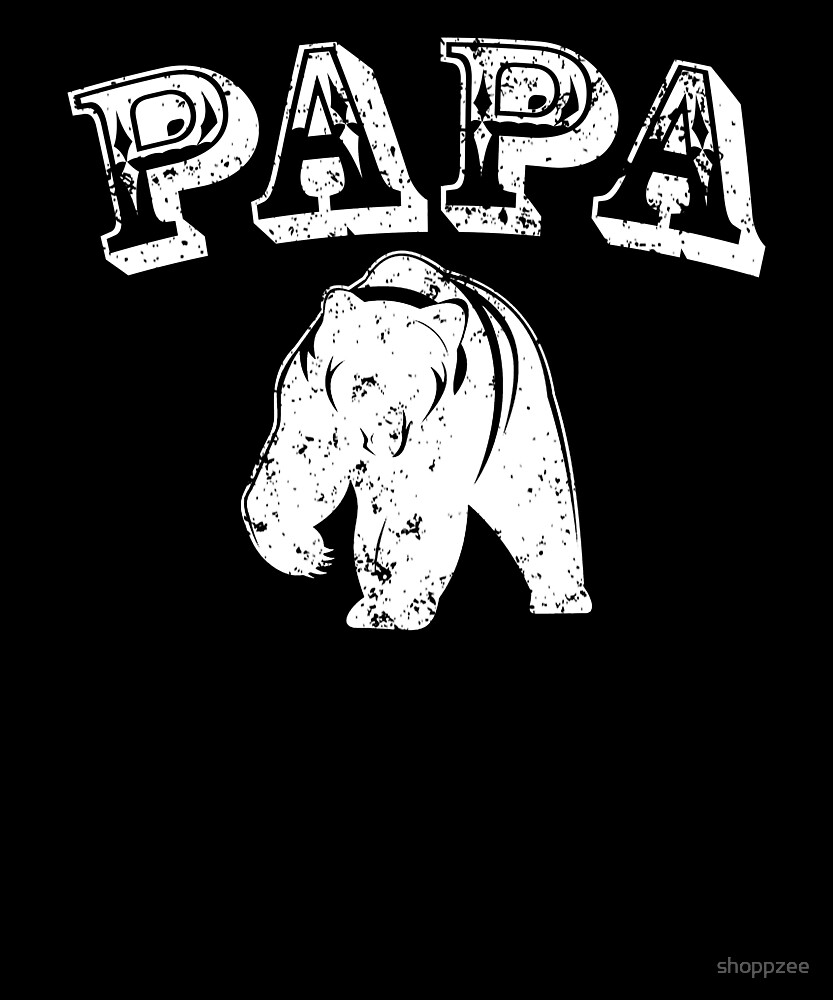 Papa Bear T Shirt Gift For Dad & Grandfather Gifts by shoppzee