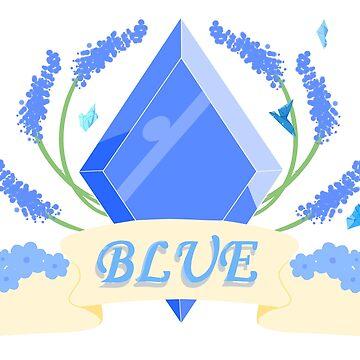 Blue Diamond Aesthetic Design by Xiaobao