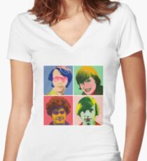 Warhol Monkees Women's Fitted V-Neck T-Shirt