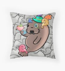 Manatee Overload Throw Pillow