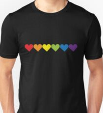Pride Hearts Unisex T-Shirt