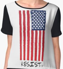 Resist (With Flag) -Graphic T-Shirt Chiffon Top