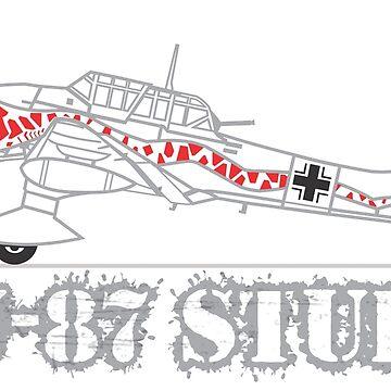 Ju-87 Stuka DAK T-Shirt by pzd501