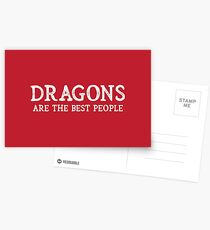 Dragons Are The Best People Postcards