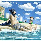 Bat-guy on vacation by OscarEA