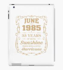 June 1985 Sunshine mixed Hurricane iPad Case/Skin