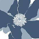 Frangipani 2 in Blue by naomicrain