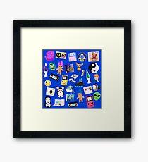 90s ICONS blue Framed Print