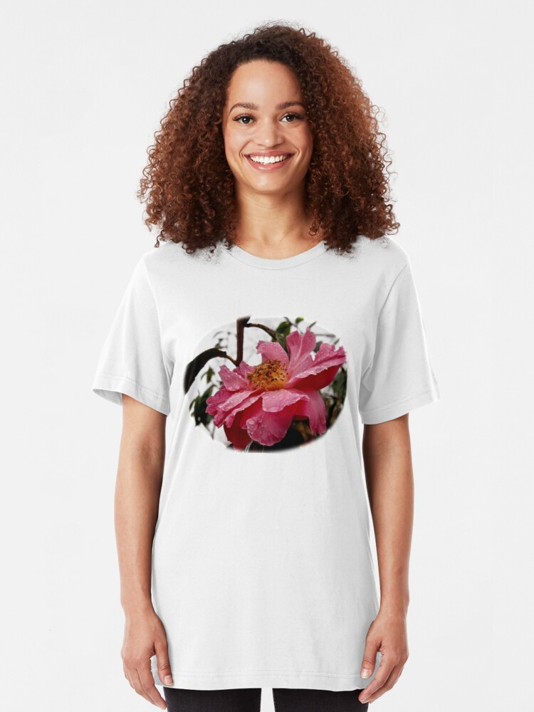 Alternate view of Raindrop Rose  Slim Fit T-Shirt