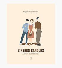 Sechzehn Kerzen Fotodruck